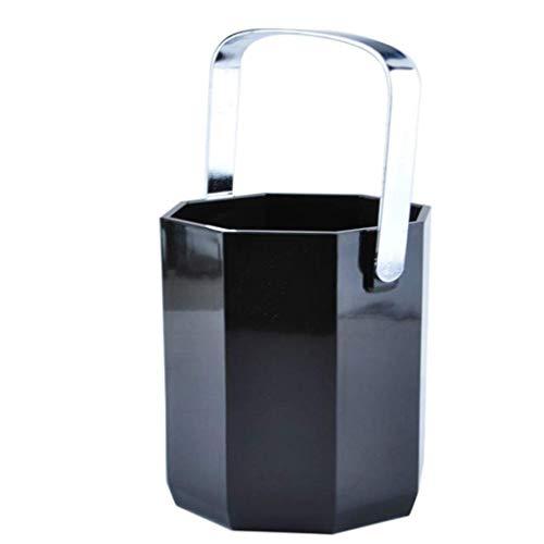 XJJZS Seau de Glace, Seau à Glace en Acrylique Transparent 1Litre Bon for jusqu'à 2 Bouteilles de vin ou de Champagne Seau à Glace