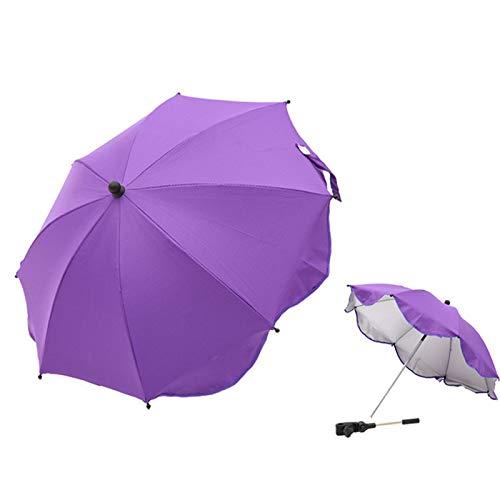 YQY Parasol Universal de Bebé Universal Ajustable, Parasol Universal, Abrazadera fácil y Ajustable, Brazo Flexible para cochecitos cochecitos,Púrpura