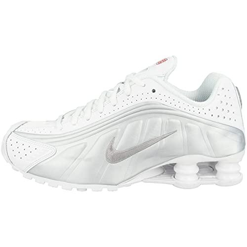 Nike Shox R4, Scarpe da Atletica Leggera Uomo, Multicolore (White/Metallic Silver/Metallic Silver 131), 42 EU