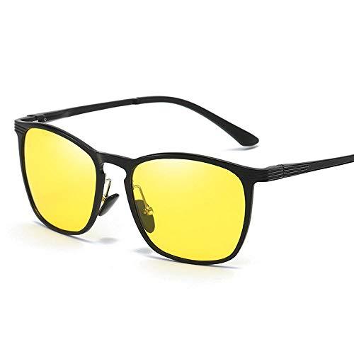 Rijden Aluminium Magnesium Polarisator Mannen en Vrouwen Klassieke Zonnebril Toned Retro Fietsen Vissen Zonnebril Zwarte Frame Thee Draait Grijs