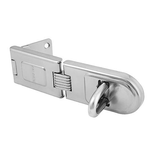 Master Lock 720EURD Heavy Duty Outdoor Door Padlock Single Hinge Hasp, 16 x 4.5 cm