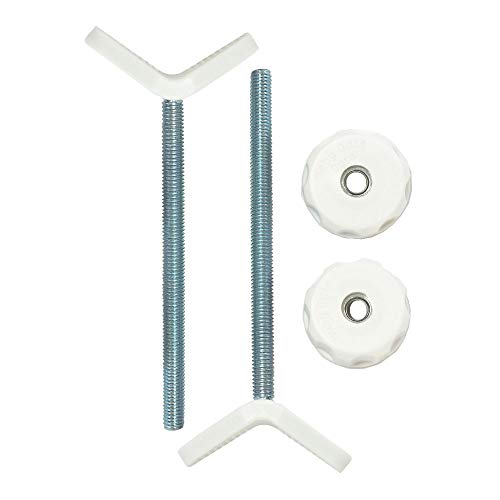 Baby Gate Guru Extra Long M8 (8mm) Stair Banister Adapter Y-Spindle Rods 2 Pack for Pressure Mounted Baby and Pet Safety Gates (8mm, White)