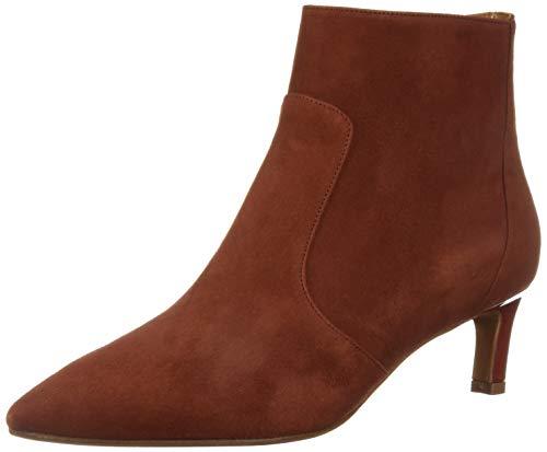 Aquatalia Women's MARILISA Suede Ankle Boot, Brick, 9.5 M US
