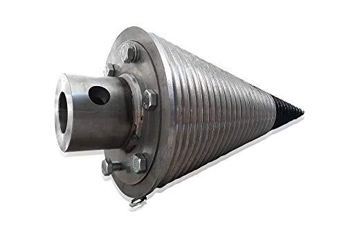 Drillkegel 230 mm Spaltgerät 230/2/+F3T Drillkegel Kegelspalter Holzspalter mit Flansch für Rotator 3T