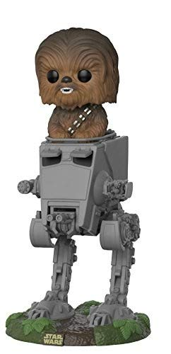Funko- Pop Deluxe: Star Wars: AT-ST w/Chewbacca, Multicolor, Standard (27023)