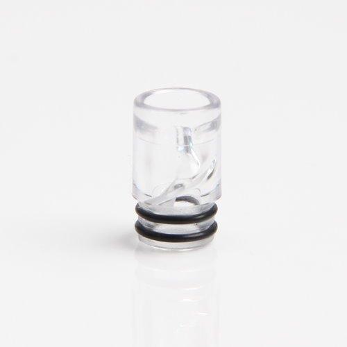 Drip Tip 510 Anschluss Verdampfer, Atomizer, Kunststoff, Spirale, Mundstück Driptip (C - Transparent)