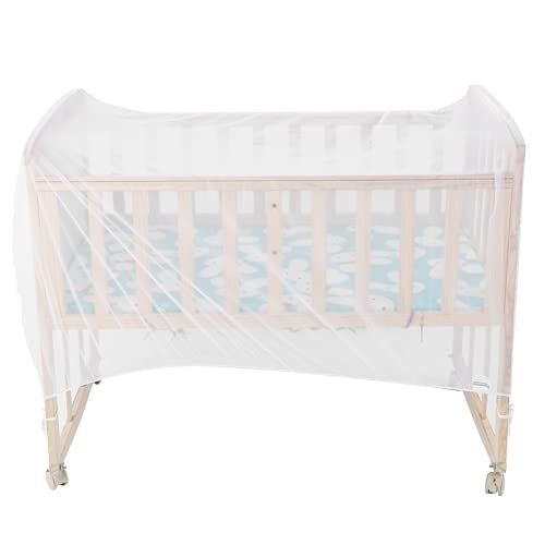 Cot Bed Insect Net, Crib Mosquito Net Gauze Crib Anti‑Mosquito Cover Crib Net Durable Prevent Wind for Baby Bed(136CM*68CM*68CM)