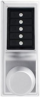 Kaba 1011-26D-41 Cylindrical Pushbutton Knob Nko Us26D, Satin Chrome