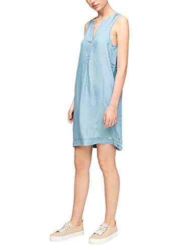 Q/S designed by - s.Oliver Damen Jeanskleid aus Lyocell Light Blue 38