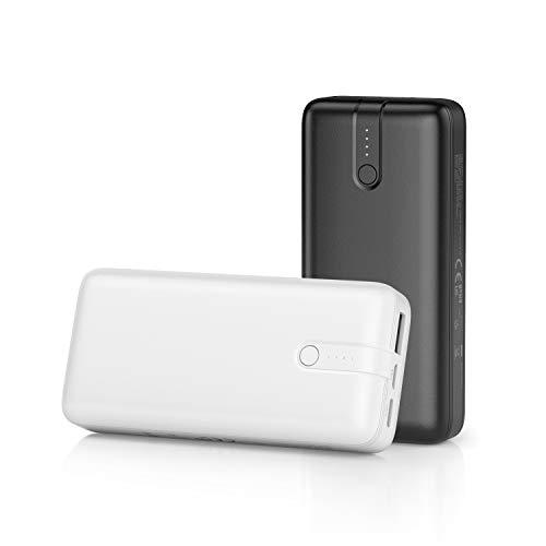 IEsafy 2 Piezas Power Bank 10000mAh Ultra-Compacto Cargador Portátil USC C & Micro Entrada Y USB Salida Batería Externa San Valentin Regalo para Movil Xiaomi Redmi iPhone Samsung Huawei …