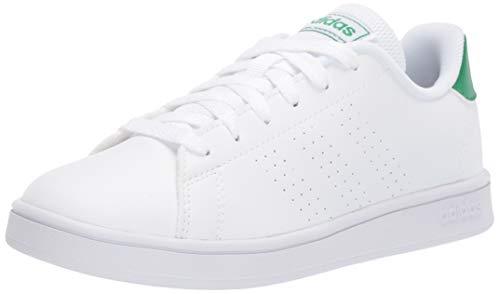 adidas Unisex-Adult Advantage K Sneaker, FTWR White/Green/Grey, 10.5K M US