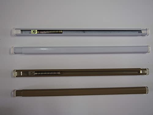 Coppia bastoncini per tende a pressione regolabili varie misure e colori (DA87 A 150, BRONZO)