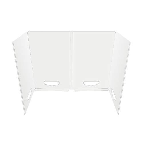 50PCS Sneeze Guard Desk Shield, Plastic Sneeze Guard, Portable Protective Barrier Panel Apply to Desk, Table Countertops, Classroom, Restaurant