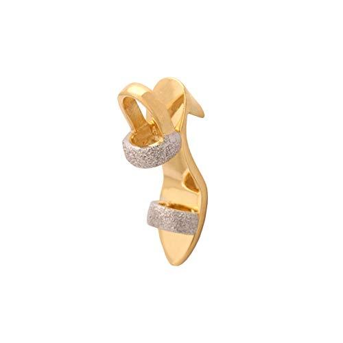 Ejubiler Colgante de Zapato para Mujer, Bicolor, Oro Bicolor, 585er 14 KT