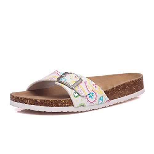 30 Colors Summer Cork Slipper Women Casual Beach Mixed Color Flip Flops Plue Size 35-43,2,71