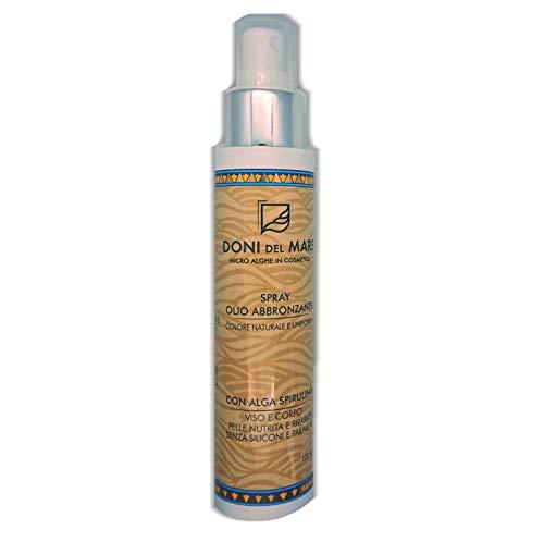 Aceite bronceador natural en spray. Enriquecido con betacaroteno y alga en espirulina....
