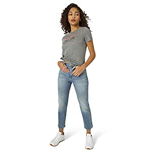 Lee Women's High Rise Straight Ankle Jean