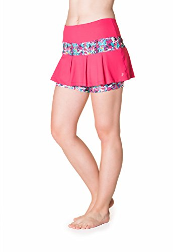 Skirt Sports Women's Lioness Skirt, Medium, Cosmo Pink/Holiday Print