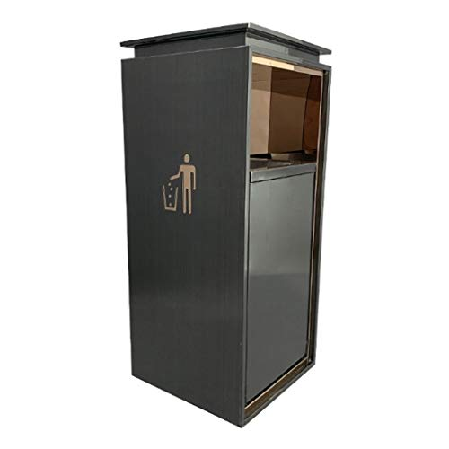 Find Cheap JHEY Outdoor Dustbins Stainless Steel Outdoor Dustbins Anti-Fingerprint Mall Trash Can Bi...