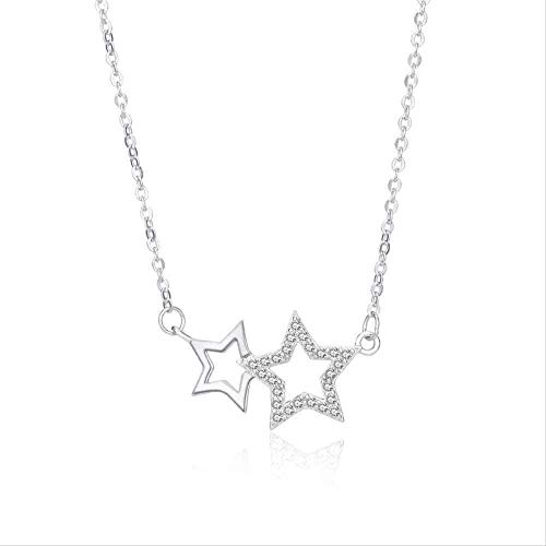FACAIBA Necklace Woman Elegant Necklace Five-Pointed Star Modeling Necklace Female Simple Temperament Set A Micro-Set Necklace Jewelry Sweet Cute Women Accessories