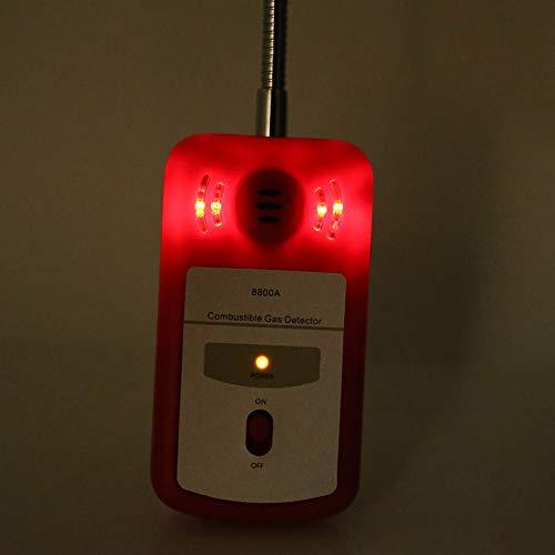 Tragbarer Gasleckdetektor, 1-teiliger Gasdetektor, digitaler Gasdetektor für versicherte Sicherheit, Küche für industrielle Gasprüfgeräte für Privathaushalte