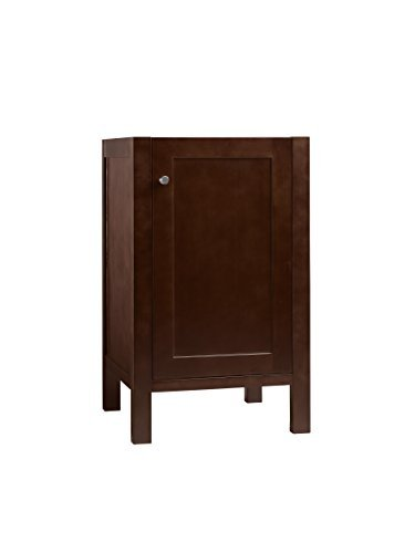 RONBOW Essentials Cami 18 Inch Bathroom Vanity Cabinet Base in Dark Cherry Finish, with Soft Close Wood Door and Adjustable Shelf Inside 036918-3-H01