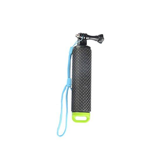 Manico in Silicone Maniglia Galleggiante Asta Selfie Stick impermeabile galleggiamento Stock Camera Mount per GoPro Go Pro Hero 5sessione/Eroe 4/3+ 3/2/1SJ4000SJ5000SJ6000SJ7000Action Camera con bracciale regolabile (arancione)
