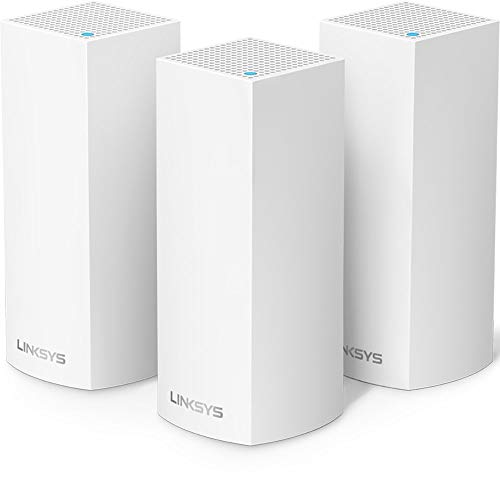 Linksys Velop Intelligent Mesh WiFi System, 3-Pack White (AC3600)