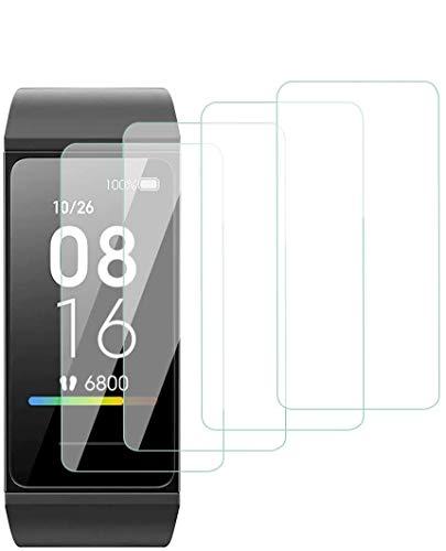 Aerku Panzerglas Schutzfolie für Xiaomi Mi Band 4C, 9H Festigkeit HD Anti-Kratzer Folie Ultra Glatte Film Bildschirmschutzfolie Blasenfreie Panzerglasfolie für Xiaomi Mi Band 4C [4 Stück]-Transparent