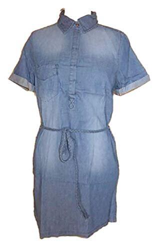 Urban Surface -  Vestito - Camicia - Maniche Corte - Donna Middle-Blue 38