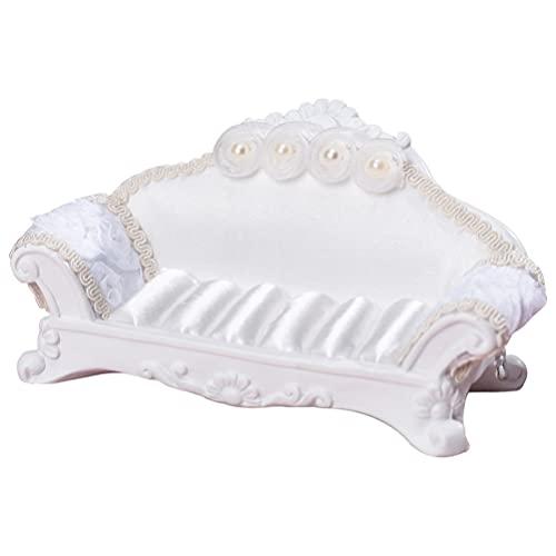 Homoyoyo Sofá de La Joyería Tamaño de La Casa de Muñecas Sofá Caja de Joyería Almacenamiento Organizador Mini Muebles Titular de La Joyería