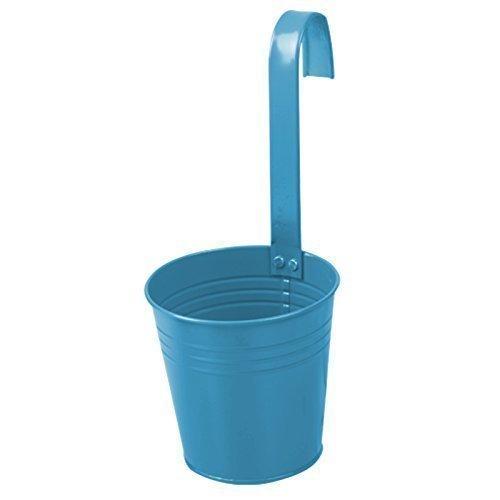 Clic-And-Get Vaso da Fiori in Zinco con Fiori, da Appendere, Primaverile