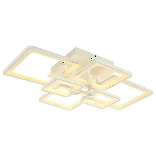–Lámpara LED de techo 6087con mando a distancia color de luz/brillo ajustable, acrílico de pantalla, lacada en blanco marco de metal