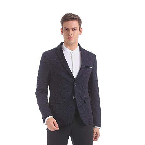 Arvind Men Navy Modern Slim Fit Speckled Casual Blazer
