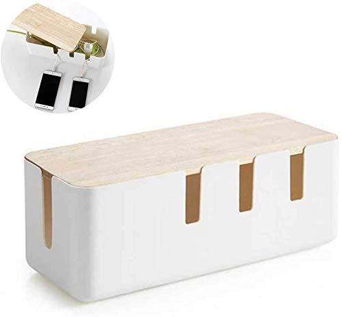 Caja de administración de cables, Cubierta de regleta de enchufes Caja organizadora...