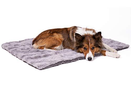 CopcoPet Hundedecke Cheyenne 60 x 50cm, Grau, waschbare Fleecedecke Hund, dicht gewebte Tierdecke, kuscheliger Schlafplatz für Hunde & Katzen