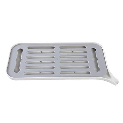 Beeinch - Bandeja de drenaje para fregadero de cocina, plato de plástico para verduras y frutas, color blanco