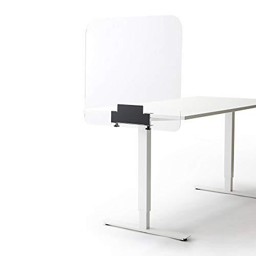Spuckschutz und Trennwand fur Büro, Schreibtisch oder Tisch Klein. Abmessungen Schutz: 85 cm breit x 66,5 cm hoch, 4 mm dick.