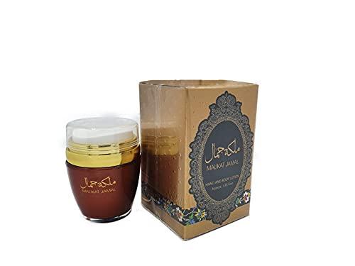 Crema de loción Malikat Jasal de 45 ml, leche perfumada hidratante para el cuerpo y la mano muy eficaz para pieles muy secas para hombre y mujer. Notas: almizcle, Oud, floral, pachuli