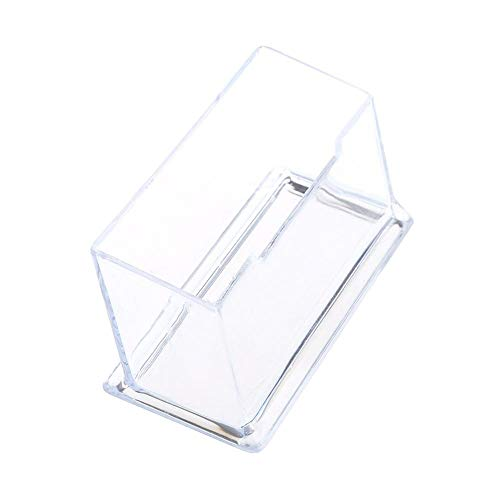 Clear Business Card Holder Acrylic Plastic Display Stand Rack Desktop Office