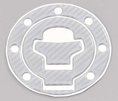 デイトナ バイク用 傷防止シール タンクキャップパッド ポッティングタイプ スズキ2(GSX1400) シルバーカーボン調 15550