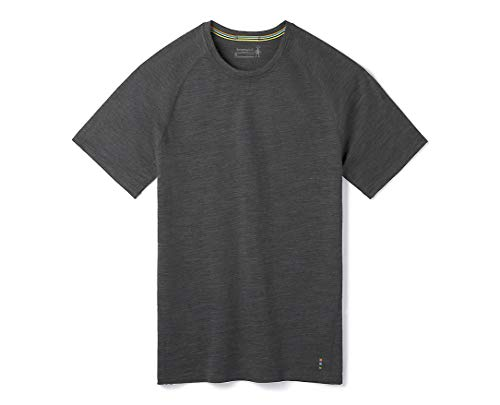 Smartwool Men's Merino 150 Baselayer Short Sleeve Boxed Shirts Homme, Iron Heather, FR : S (Taille Fabricant : S)