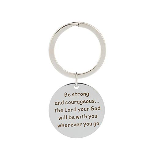 Malinmay Small Keychain, Stainless Steel Keychain Round Tag Engraved 'LOVE YOU DAD' with Gadget Axe