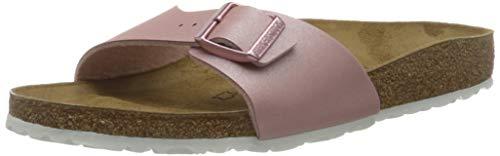 BIRKENSTOCK Damen Mules Madrid Birko-Flor ICY Metallic Susceptible Rose Sandale, 37 EU thumbnail