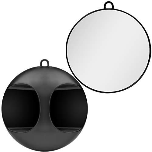Kurtzy Specchio da Parrucchiere Rotondo Portatile - Specchio a Mano o da Appendere per Barbiere Accessori, Saloni ed Estetiste - Specchio con Manico per Mostrare la Testa, Tagli di Capelli e Styling
