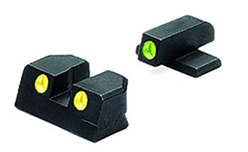 Meprolight Sig Sauer Tru-Dot Night Sight fits 9mm & 357. Yellow rear/Green front