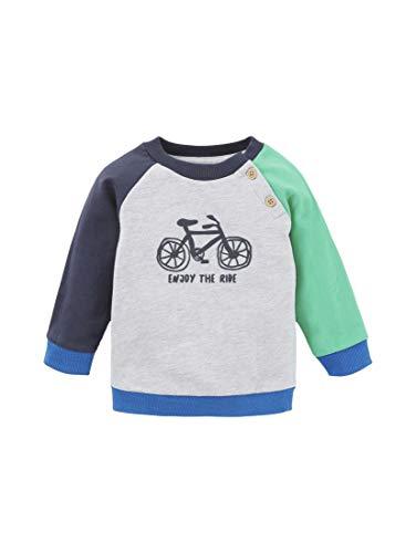 TOM TAILOR Jungen Strick & Sweatshirts Sweatshirt mit Colorblocking Vapor Blue Melange|Gray,74