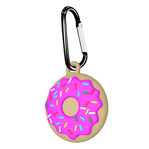 WINBST Funda protectora para Airtags, Donuts Liquid Silicone Colgante compatible con Airtag Finder Pet Finder Tracker Soporte con llavero