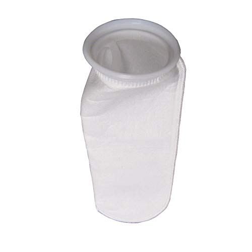 Bagfilters.com 10 Micron Liquid Filter Bags (Qty. 25), Industry Size #4 (4-1/8 x 14), Polyester Felt with Polypropylene Rings