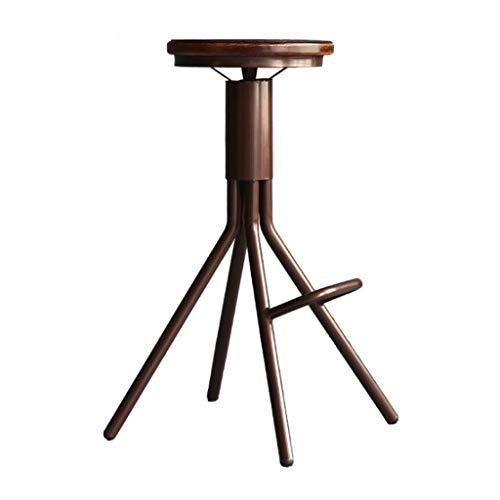XQAQX kruk barkruk vintage in hoogte verstelbaar draaien massief hout ijzer kunst design industriële bistro cafe Pub keuken bar stoel stool